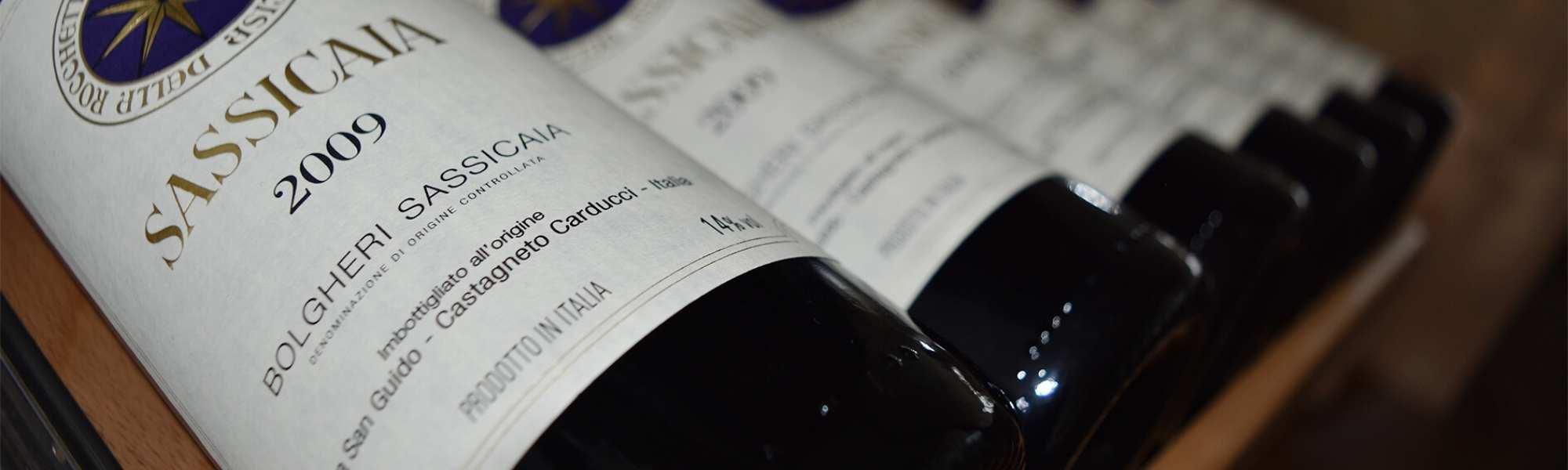vino sassicaia Bolgheri 2009